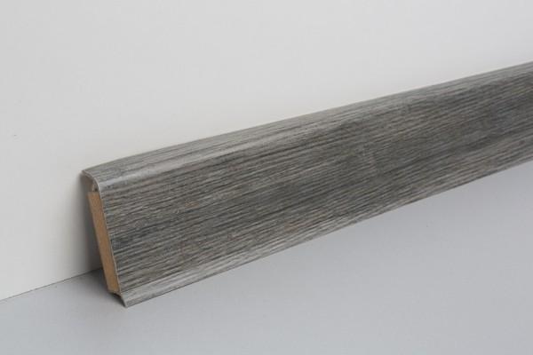 Kernsockelleiste Vinyl MSV 60 Eiche schwarz gekälkt 13x60x2500mm