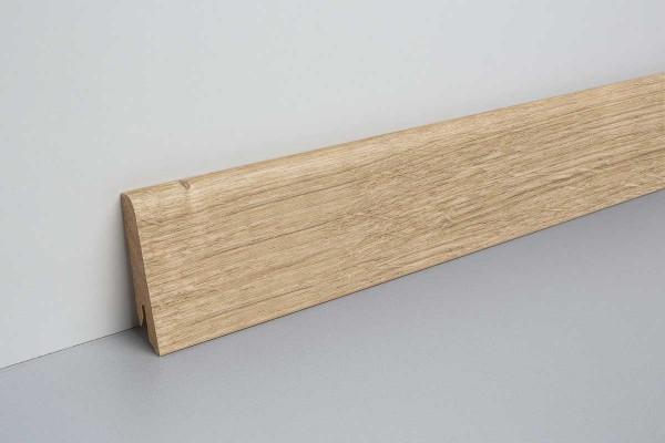 Laminat Sockelleiste foliert mit MDF-Kern Dunnington Eiche hell 17x60x2400mm