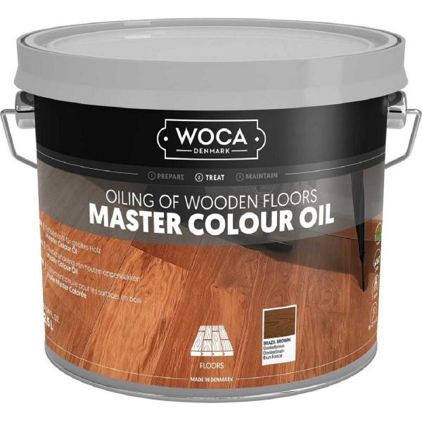 WOCA Meister Colour Öl Dunkelbraun Brazil Nr. 102, Inhalt: 2,5 Liter