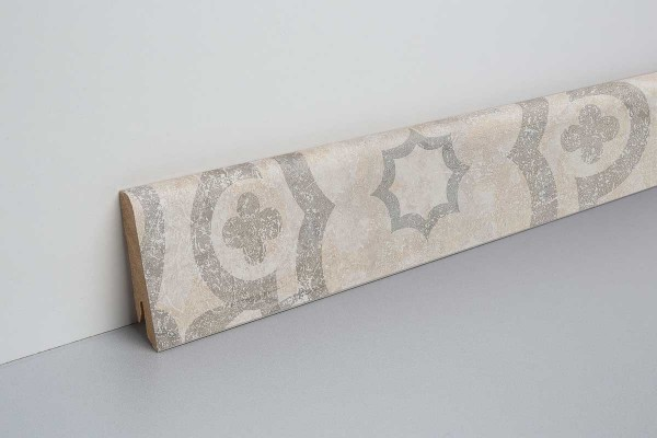 Laminat Sockelleiste foliert mit MDF-Kern Alondra Stein 17x60x2400mm