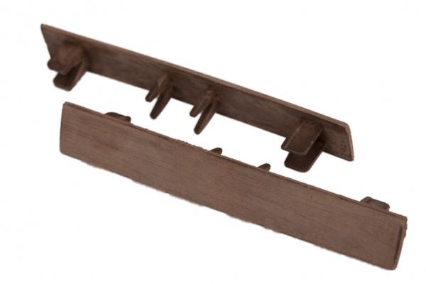 Endkappen Erdbraun für WPC Stärke 25 mm