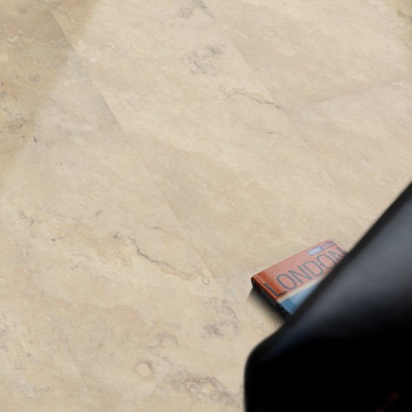 Vinfloors TEC 80 Klick-Vinylboden mit X-Core-Trägerplatte Fliesenoptik Travertin