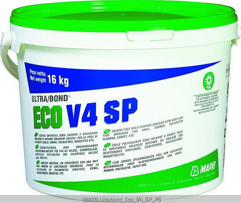 Mapei Ultrabond ECO V4 SP Dispersionskleber 5 kg, Verklebung von PVC und Vinylbelaege