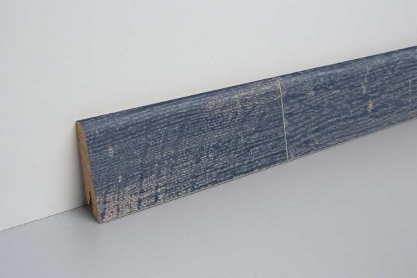 Laminat Bodenleiste foliert MDF-Kern Halford Eiche blau
