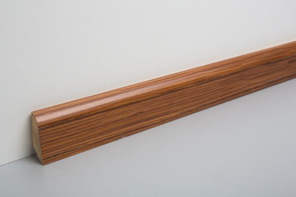 Sockelleiste furniert MSF 40 Palisander lackiert 19x39x2500mm