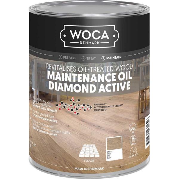 WOCA Diamant Aktiv Pflegeöl Weiß, Inhalt: 1 Liter