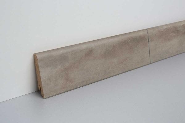Laminat Sockelleiste foliert mit MDF-Kern Beton dunkelgrau 17x60x2400mm