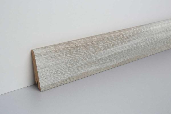Laminat Sockelleiste foliert mit MDF-Kern Abergele Eiche dunkel 17x60x2400mm