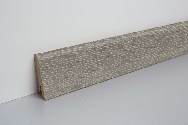 Laminat Bodenleiste foliert MDF-Kern Waltham Eiche grau