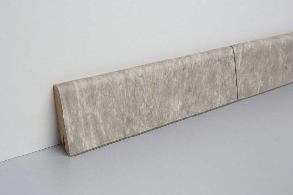 Laminat Sockelleiste foliert mit MDF-Kern Schiefer bunt 17x60x2400mm