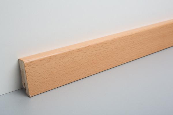 Sockelleiste furniert MKF 60 Buche gedämpft lackiert 16x60x2500mm