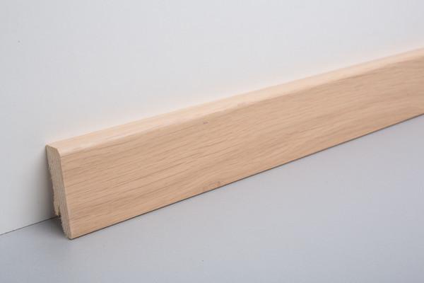Sockelleiste furniert MKF 60 Eiche weiß geölt 16x60x2500mm