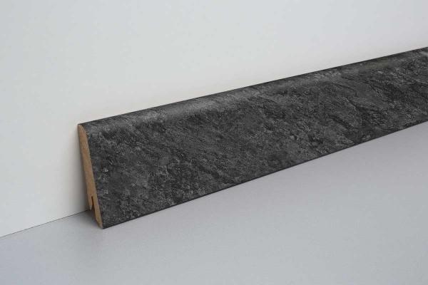 Laminat Sockelleiste foliert mit MDF-Kern Adolari Stein schwarz 17x60x2400mm