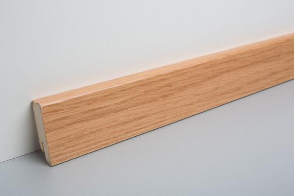 Sockelleiste furniert MKF 50 Eiche lackiert 18x50x4000mm