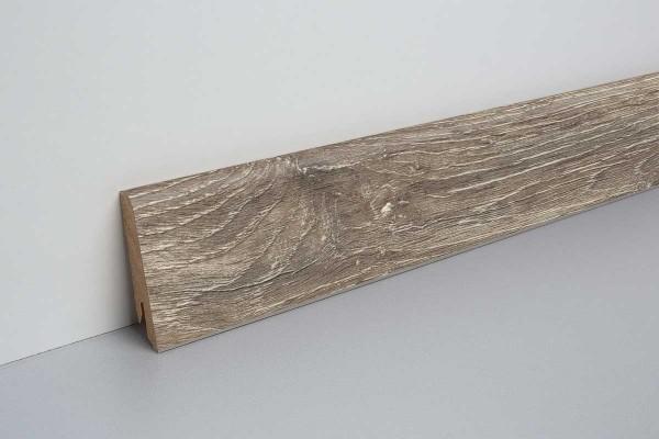 Laminat Sockelleiste foliert mit MDF-Kern Eiche rustikal grau 17x60x2400mm
