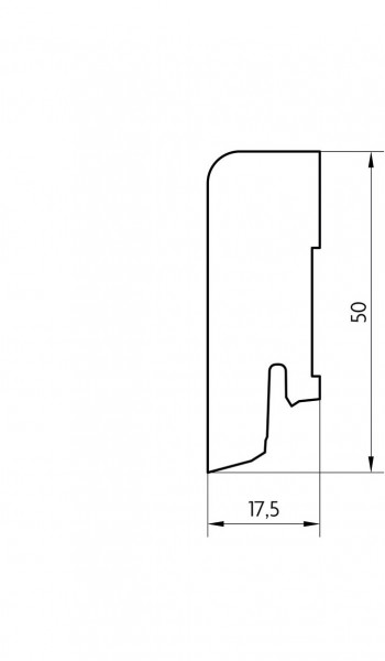 Sockelleiste furniert MKF 50 Ahorn can. lackiert 18x50x2500mm