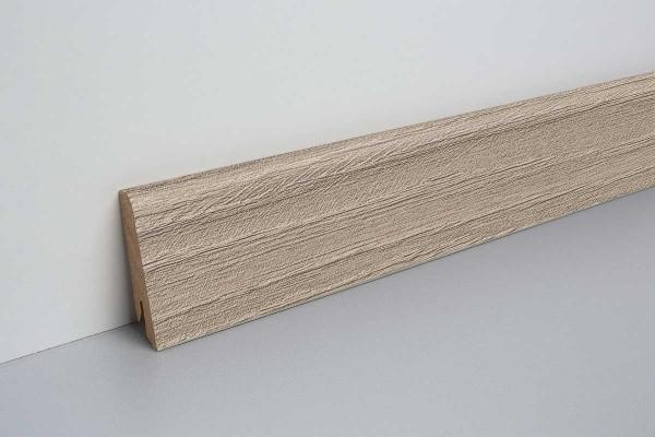 Laminat Bodenleiste foliert MDF-Kern Alba Eiche grau