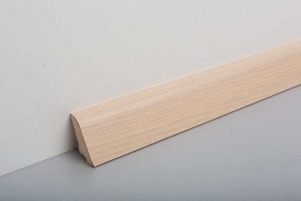 Sockelleiste furniert MSF 40 Esche Weiß lackiert 19x39x2500mm