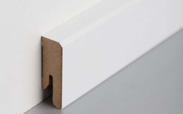 Sockelleiste foliert MDF 40 weiß überstreichbar 15x40x2400mm
