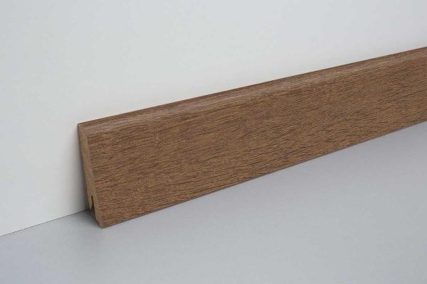 Laminat Sockelleiste foliert mit MDF-Kern Bayford Eiche tabak 17x60x2400mm