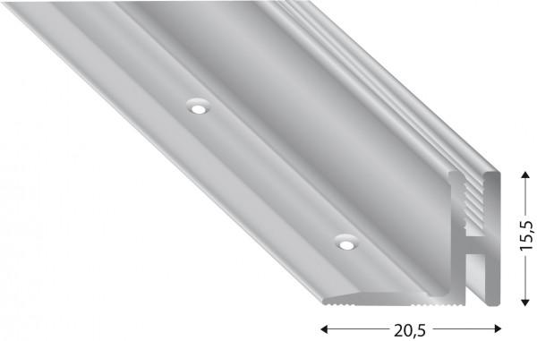 Grundprofil Alu roh 17-22 mm zur Überbrückung des Höhenunterschieds, ohne Befestigungsmaterial