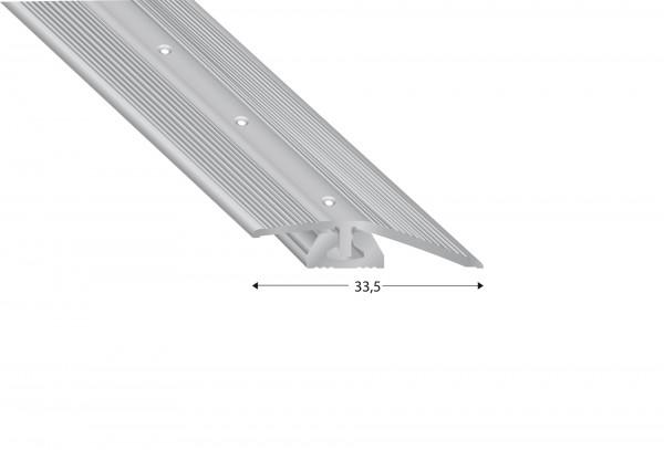 Bodenprofil CAVUM Ausgleich 4-7 mm, 2-teilig, silberfarben