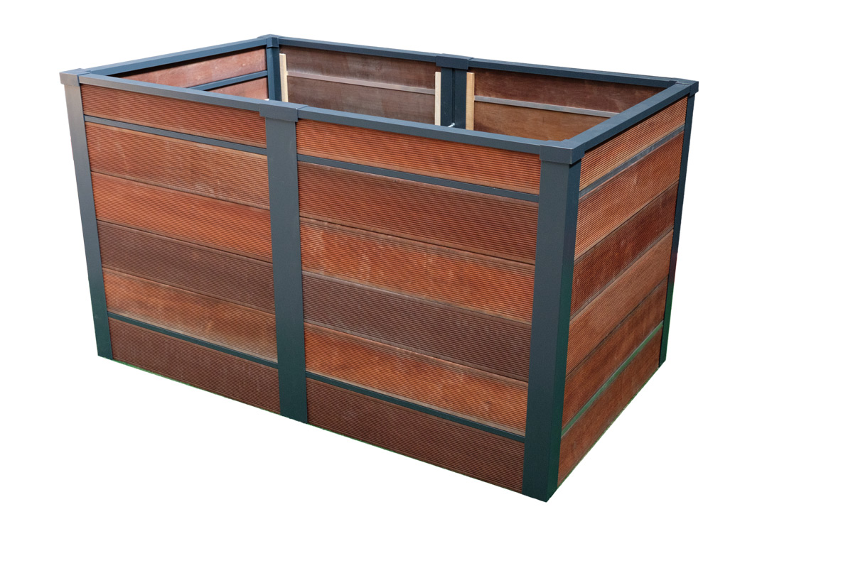 hochbeet massaranduba aluminiumsteher bausatz. Black Bedroom Furniture Sets. Home Design Ideas
