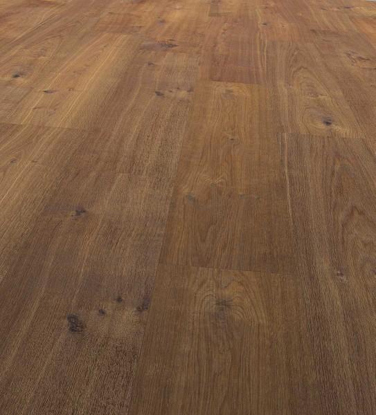 EGGER PRO Comfort Large Korkboden Landhausdiele 1-Stab Bennett Eiche dunkel EPC010, lackiert