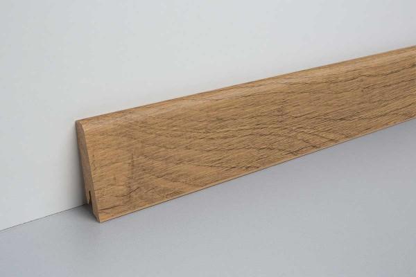 Laminat Sockelleiste foliert mit MDF-Kern Eiche rauh natur 17x60x2400mm