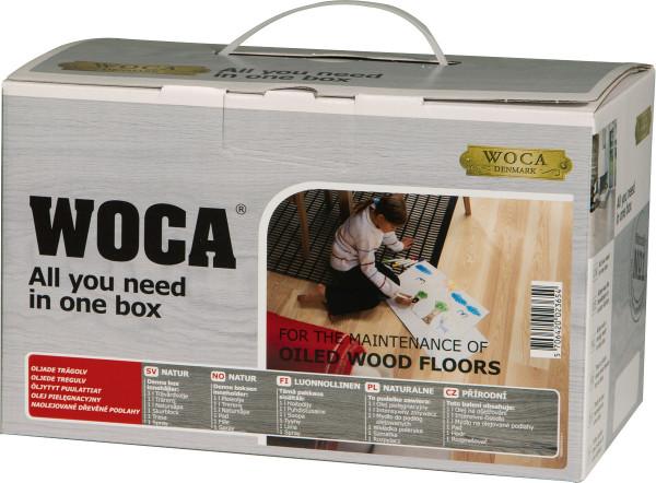 WOCA Pflegebox für geölte Oberflächen - Natur