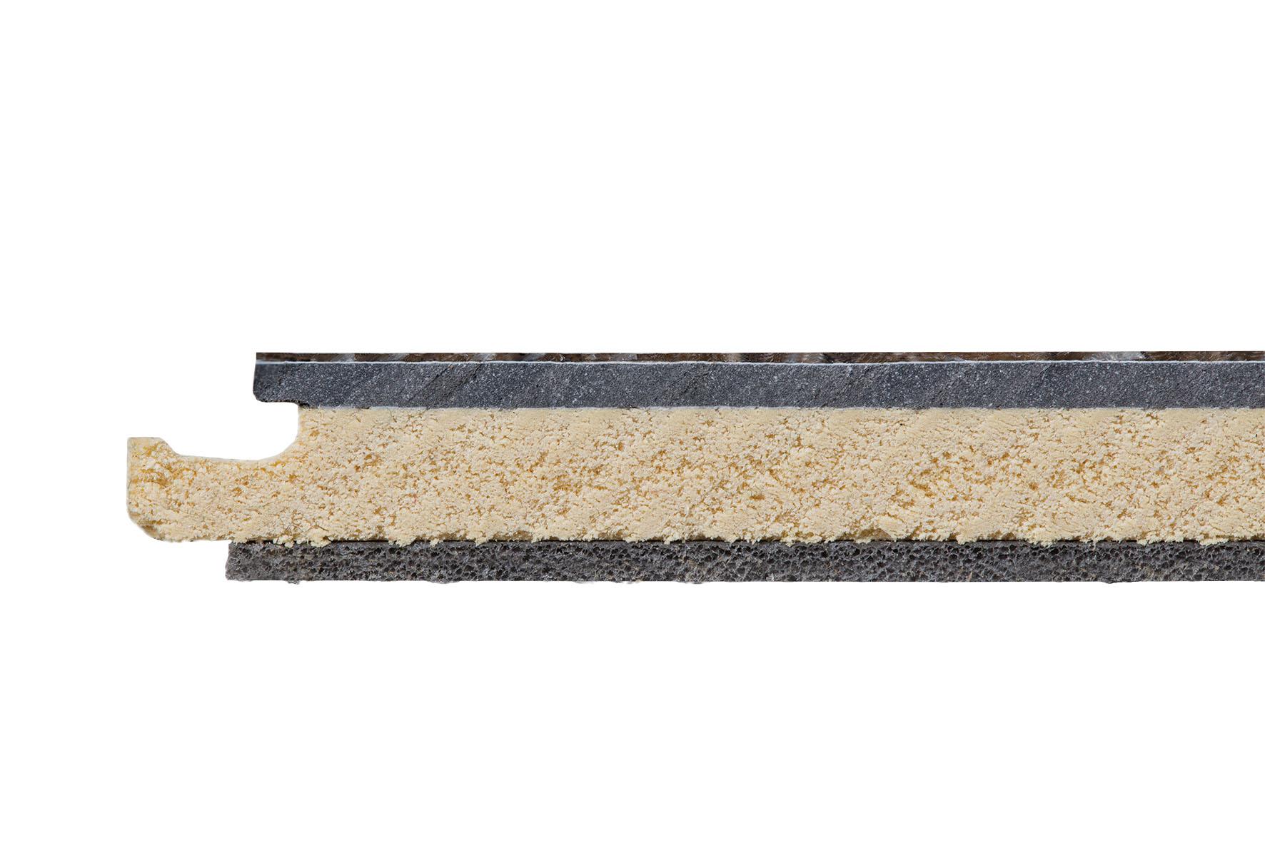 Vinfloors-TEC-Querschnitt-mehrschichtiger-Vinylboden-auf-Tragerplatte-mit-Trittschalldammung