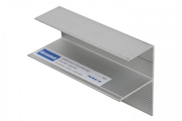 Aluminium F-Profil aluminiumgrau