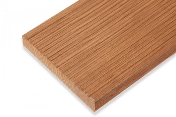 FANO Holz Terrassendiele Thermoesche, gerillt / glatt