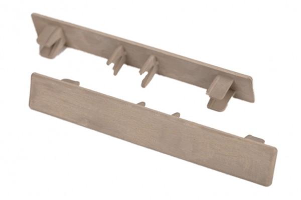 Endkappen Elfenbein für WPC Stärke 25 mm