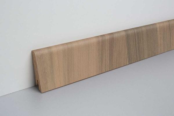 Laminat Sockelleiste foliert mit MDF-Kern Sarria Nussbaum 17x60x2400mm