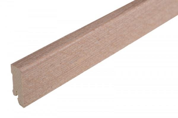 Bodenleiste furniert MHF 50 KING White Sand, matt lackiert