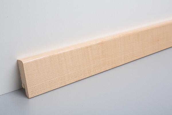 Sockelleiste furniert MKF 60 Ahorn lackiert 16x60x2500mm