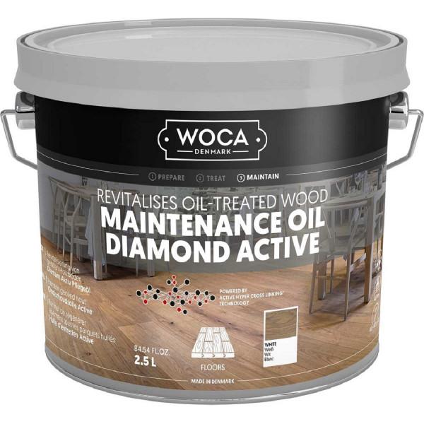 WOCA Diamant Aktiv Pflegeöl Weiß, Inhalt: 2,5 Liter