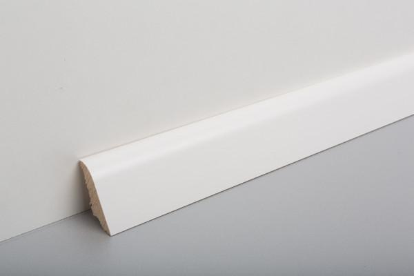 Sockelleiste furniert MSF 40, Weiß deckend lackiert, RAL9003, 19x39x2500mm