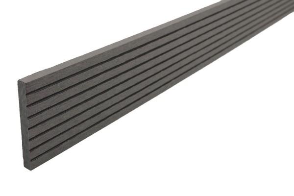 Abdeckleisten Titangrau für WPC Stärke 25 mm