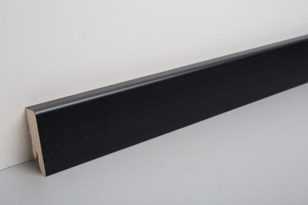 Bodenleiste furniert MHF 50, schwarz deckend lackiert