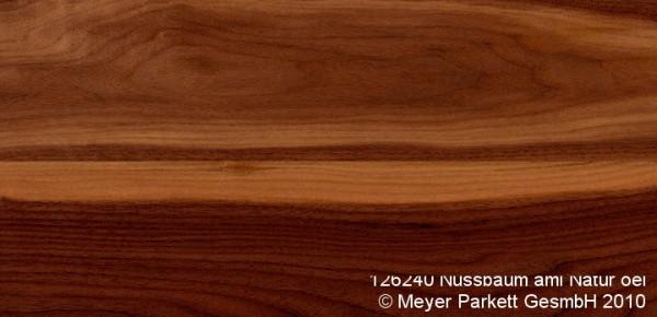Wood Perfect Parkett 2-Schicht Riemen Nußbaum amer. Natur, lackiert