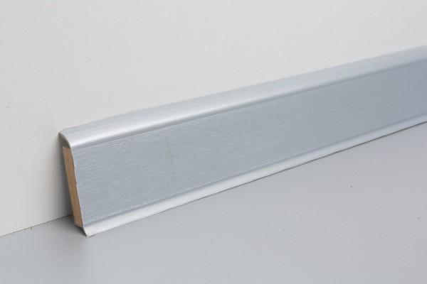 Kernsockelleiste Vinyl MSV 60 Silber unifarben 13x60x2500mm