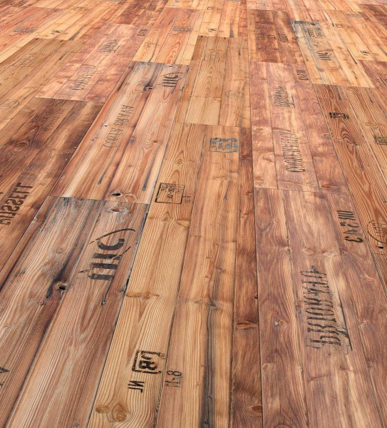 Allstars Designboden mineralisch Design Stampwood, Corus-Lackierung