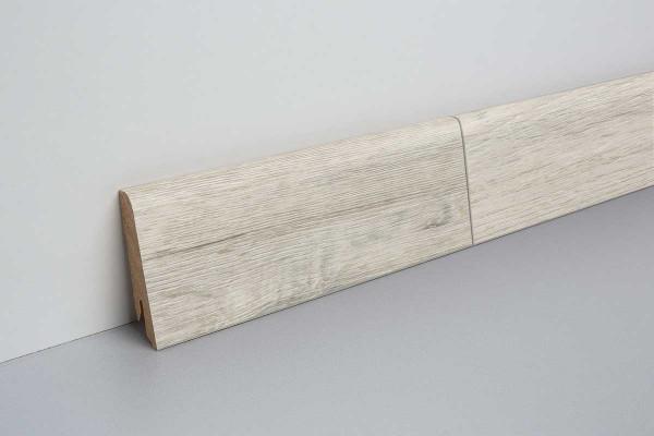 Laminat Sockelleiste foliert mit MDF-Kern Eiche rustikal weiß 17x60x2400mm