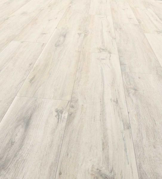 EGGER PRO Large Designboden PVC-frei Landhausdiele 1-Stab Eiche rustikal weiss EPD013