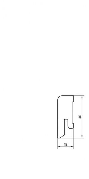 Sockelleiste furniert MKF 40 Esche lackiert 16x40x2500mm