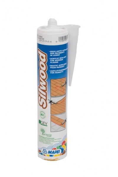 Parkettfugenmasse Silwood weiß, Acryl-Fugendichtstoff, 310ml Kartusche