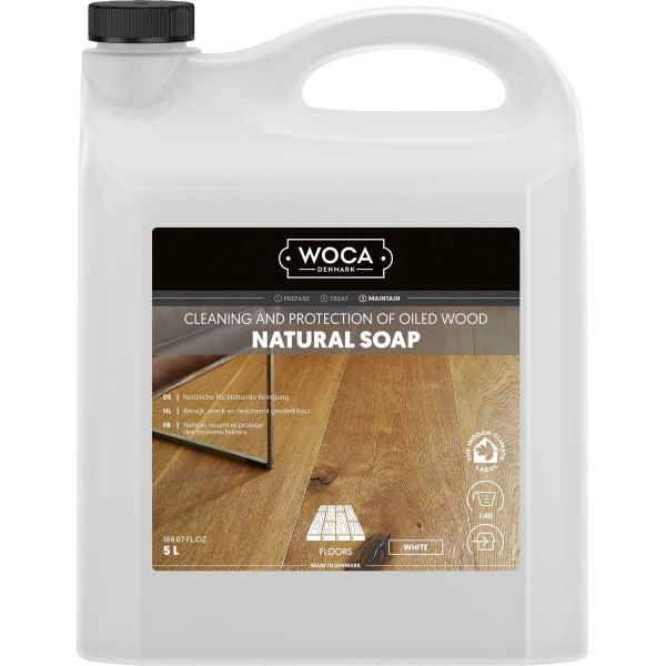 WOCA Bodenseife Weiß, Inhalt: 5 Liter