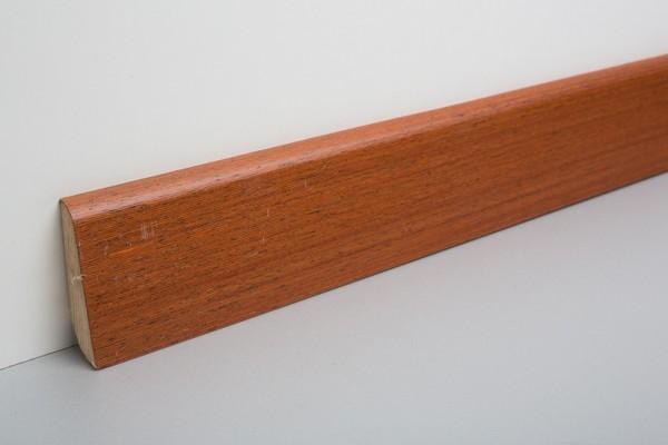 Sockelleiste furniert MHF 65 Merbau lackiert 20x60x2500mm